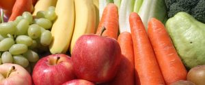 fruits and vegetables, foods for healthy skin