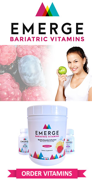 Be sure to take your Emerge Bariatrics vitamins after surgery.