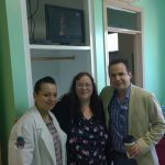 Dr. Ismael Cabrera meeting bariatric patients before surgery