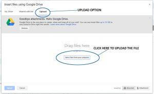Google Drive Upload Screen, non-scale victory