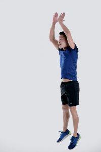 home exercise program, burpees, jump