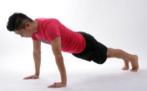 home exercise program, push-ups