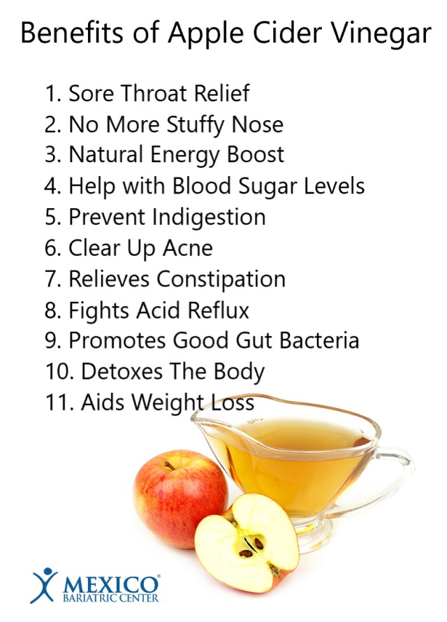 benefits of apple cider vinegar - Mexico Bariatric Center