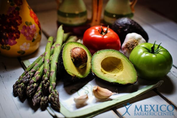 Gastric balloon Diet Guideline Avocado and Asparagus
