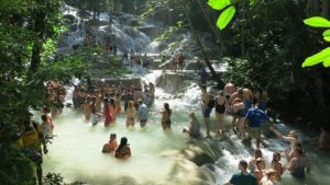 October non-scale victory. Dunn's River Falls.