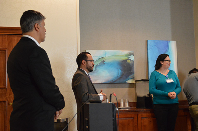 CEO of Mexico Bariatric Center, Ron Elli, Ph.D. and Dr. Ismael Cabrera answering questions at the 2018 Atlanta, GA seminar.