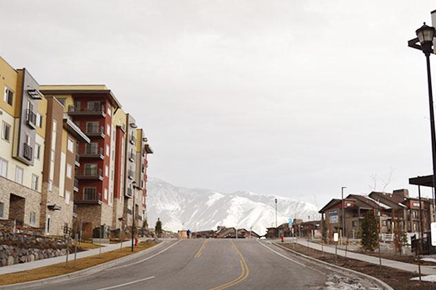 Utah road and mountain view.