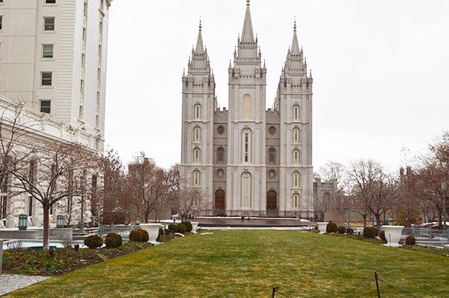 Salt Lake City, Utah Temple Square.