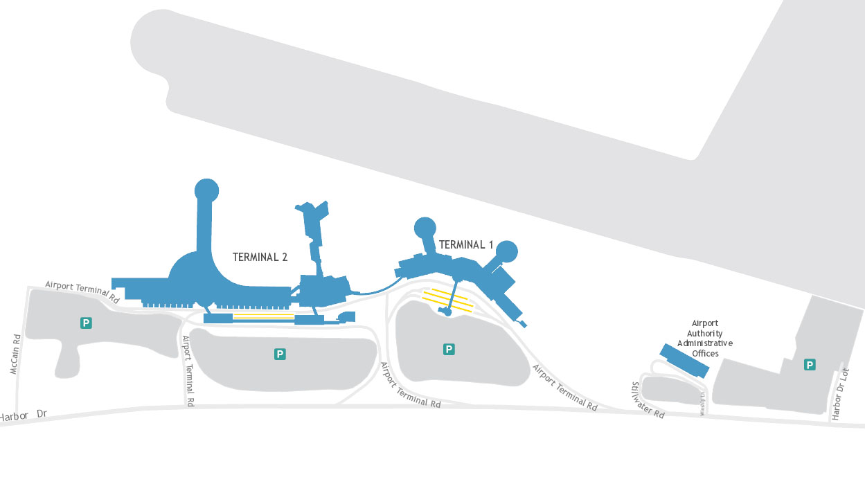San Diego Airport layout