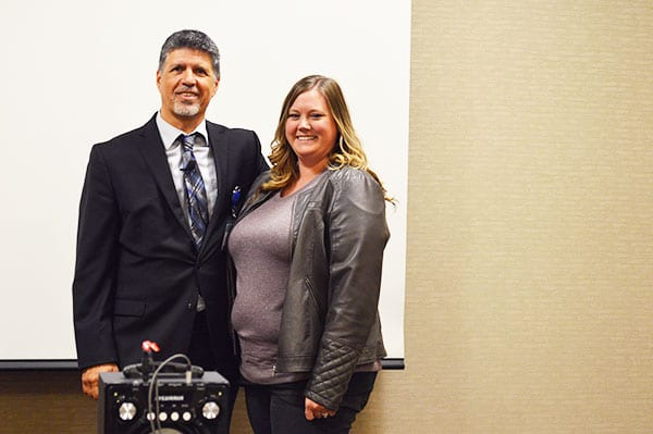 Salt Lake City, UT Bariatric Surgery Seminar - CEO Ron Elli seen with staff member, Jennifer as they prepare to for the gastric sleeve drawing