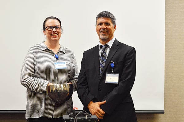 Salt Lake City, UT Bariatric Surgery Seminar - CEO Ron Elli seen with staff member, Jennifer as they prepare to for the gastric sleeve drawing!