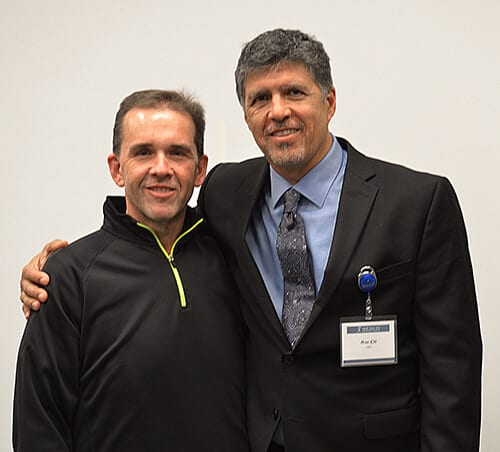Ron Elli, Ph.D., seen with former gastric sleeve patient, Paul -- Mexico Bariatric Center - Portland, OR Bariatric Surgery Seminar