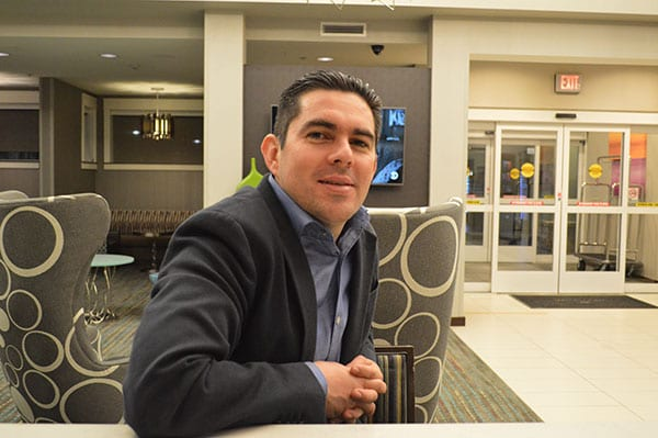 Dr. Gutierrez relaxing in the front lobby the night before his presentation - Mexico Bariatric Center - Arlington, Texas Bariatric Surgery Seminar