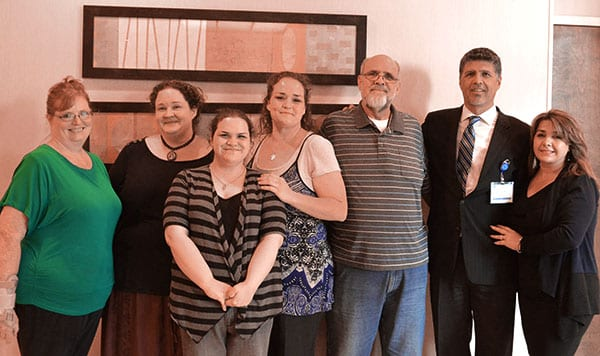 Ron Elli, Ph.D. seen with former patients of Mexico Bariatric Center.