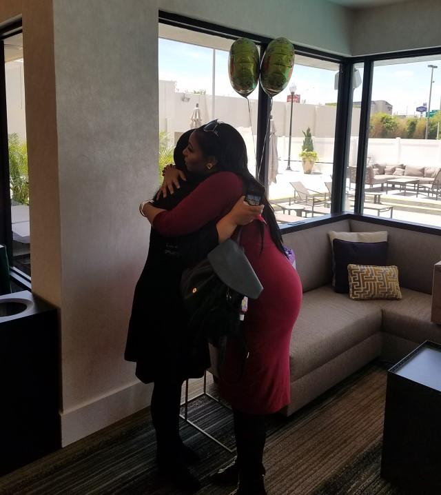 Past Patient Visiting Hugging Dr. Valenzuela - Baton Rouge Louisiana