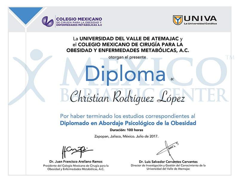 Dr Rodriguez Lopez - Diploma