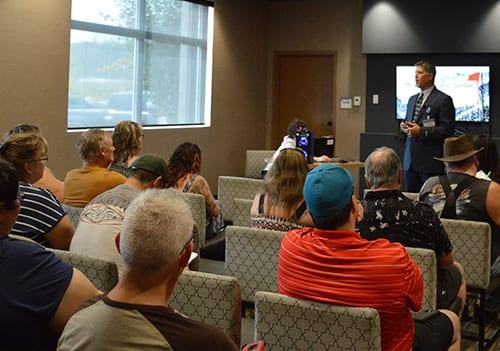 Ron Elli introducing himself at the 2018 Fort McMurray bariatric surgery seminar