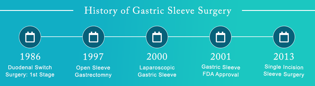 History of Gastric Sleeve Surgery Timeline