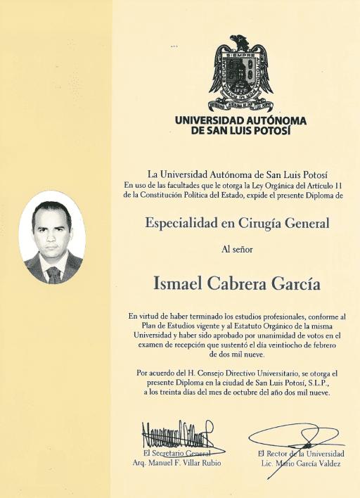 Dr. Ismael Cabrera Garcia - Universidad Autonoma De San Luis Potosi