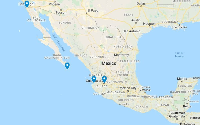 Locations of Bariatric Surgery in Mexico