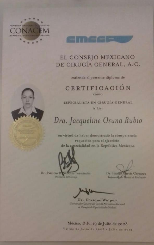 Dr. Jacqueline Osuna at CMCOEM Certifications