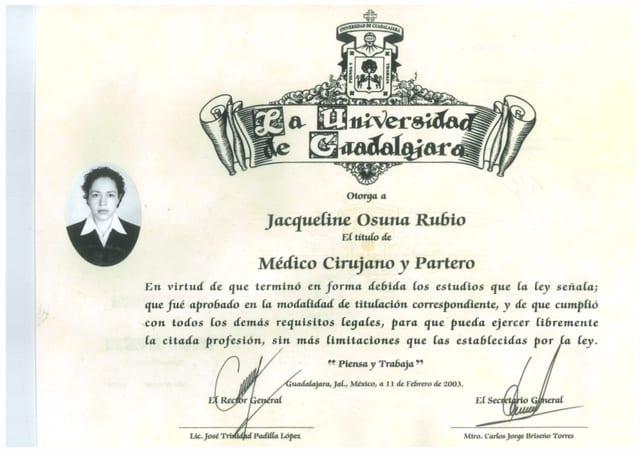 Dr. Jacqueline Osuna at Universidad de Guadalajara