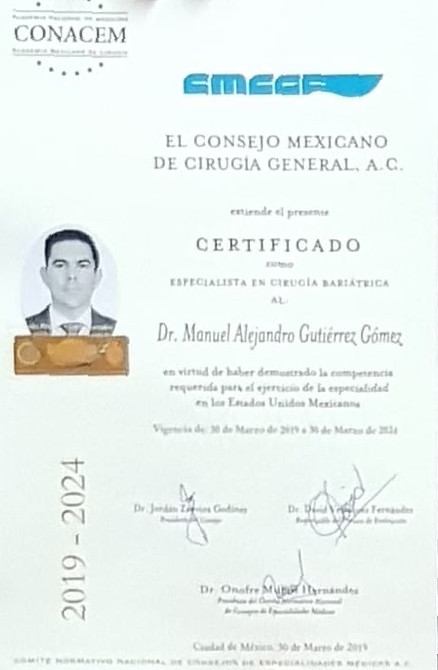 Dr. Alejandro Gutierrez - Board-Certified in Bariatric and Metabolic Surgery