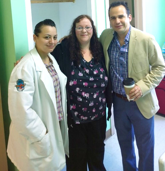 Dr. Cabrera and Team Meeting Patient