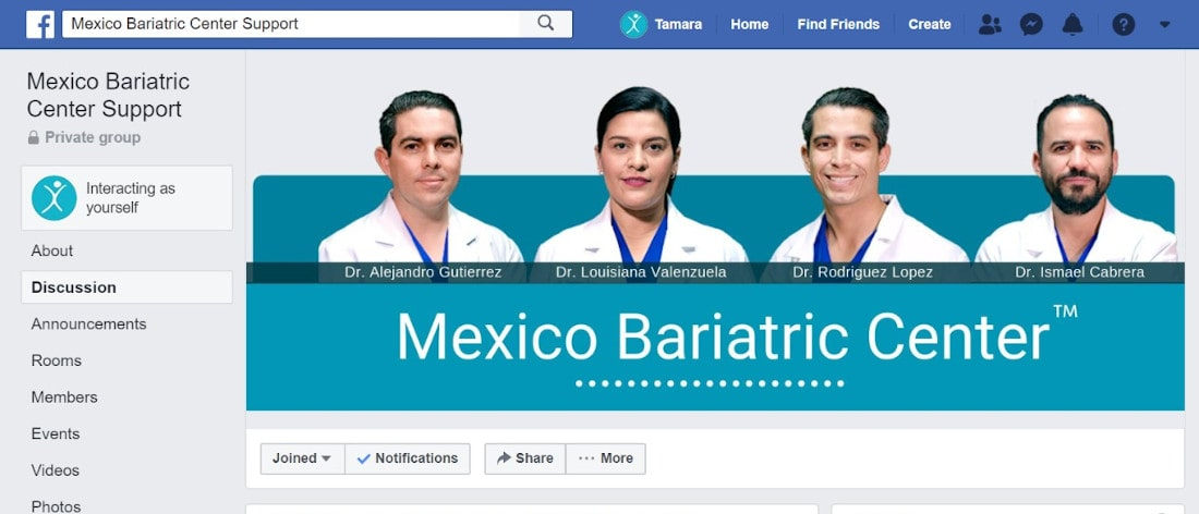 Mexico Bariatric Center Facebook Support Group