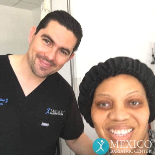 Dr. Gutierrez Posing with Patient Pre-Surgery