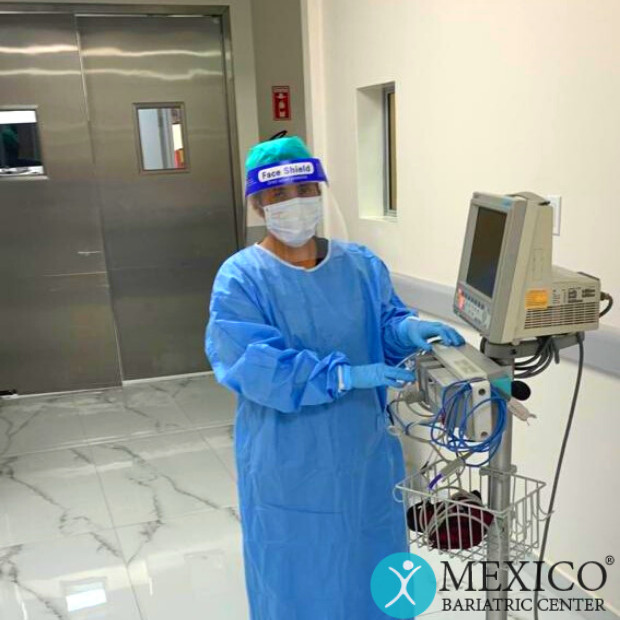 Nurse with PPE for COVID-19 - Mexico Bariatric Center