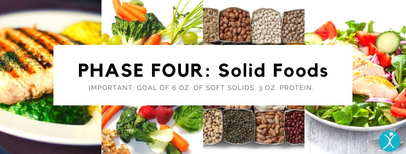 Phase Four Solid Foods Diet - Bariatric Surgery Post-Op Diet
