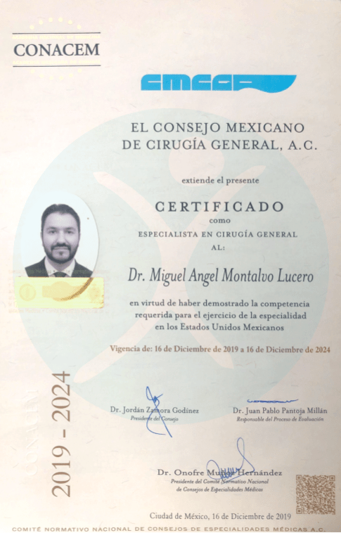 Dr. Miguel Angel Montalvo Lucero - Board-Certification Best Bariatric Surgeon in Mexico