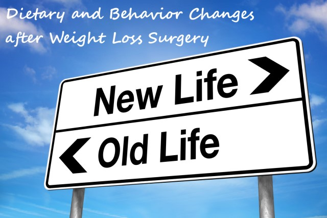 dietary and behavior changes after weight loss surgery
