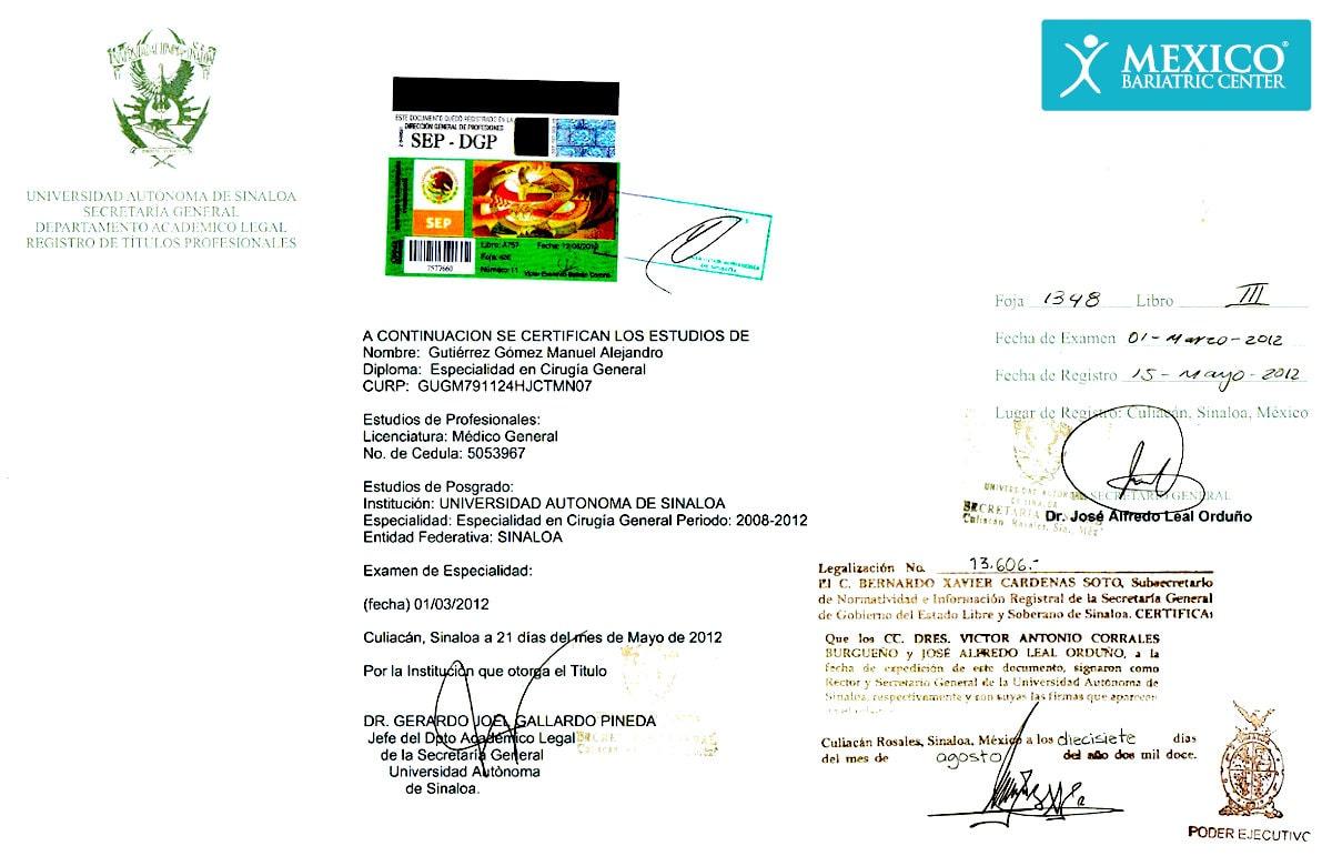Dr Alejandro Gutierrez MD General Medicine CURP#GUGM791124HJCTMN07