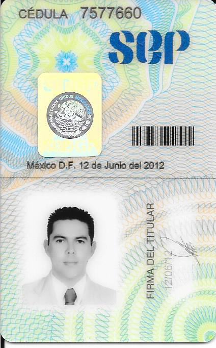 Dr Alejandro Gutierrez Medical License SEP #7577660