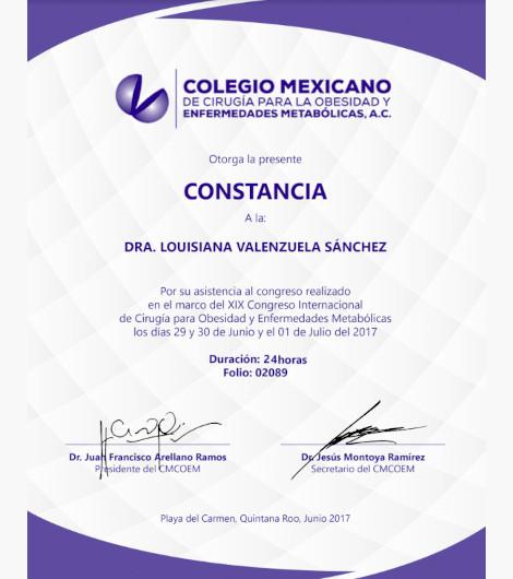 Dr. Louisiana Valenzuela Sanchez - Constancia 24 hours Bariatric Surgery