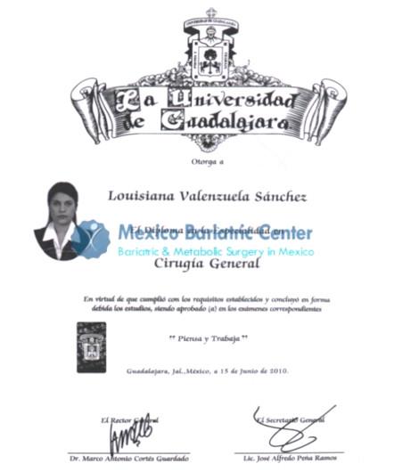 Dr. Louisiana Valenzuela Sanchez - University of Guadalajara
