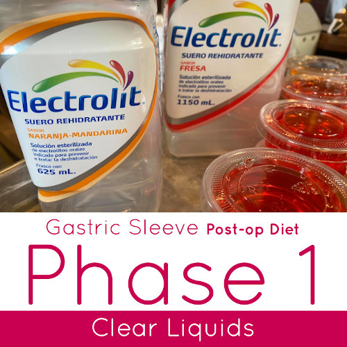 Bariatric Post-op Diet Clear Liquids