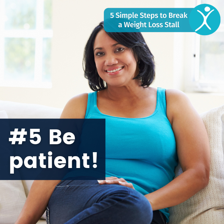 Be patient - 5 simple steps to break a weight loss stall