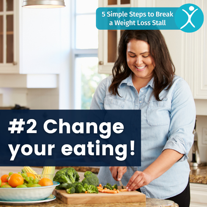Change your eating - 5 simple steps to break a weight loss stall