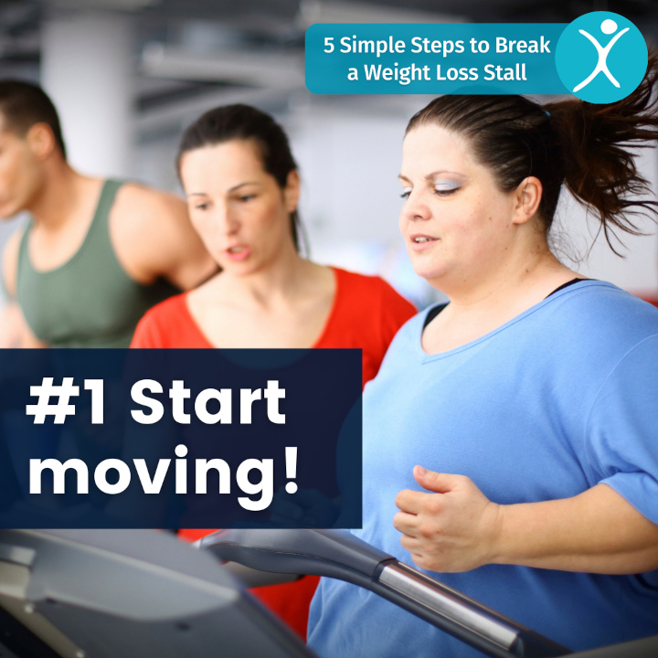Start moving - 5 simple steps to break a weight loss stall