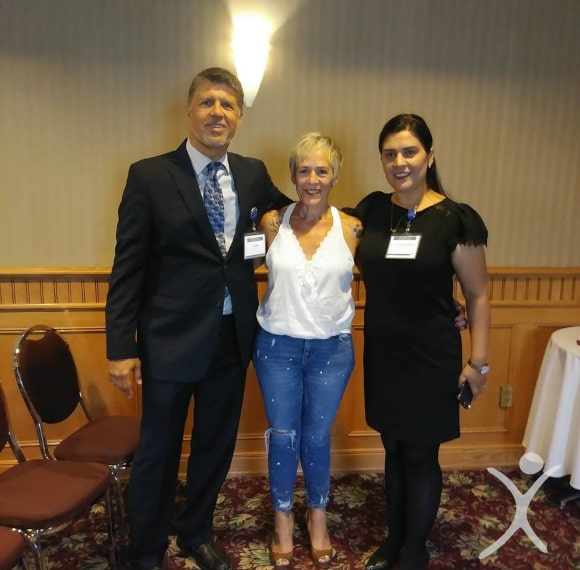 Dr. Louisiana Valenzuela at Seminar with Past Patient and Ron Elli