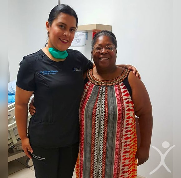 Dr. Louisiana Valenzuela - with Bariatric Patient at Hospital