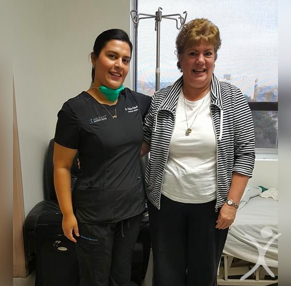 Dr. Louisiana Valenzuela - with Bariatric Patient woman