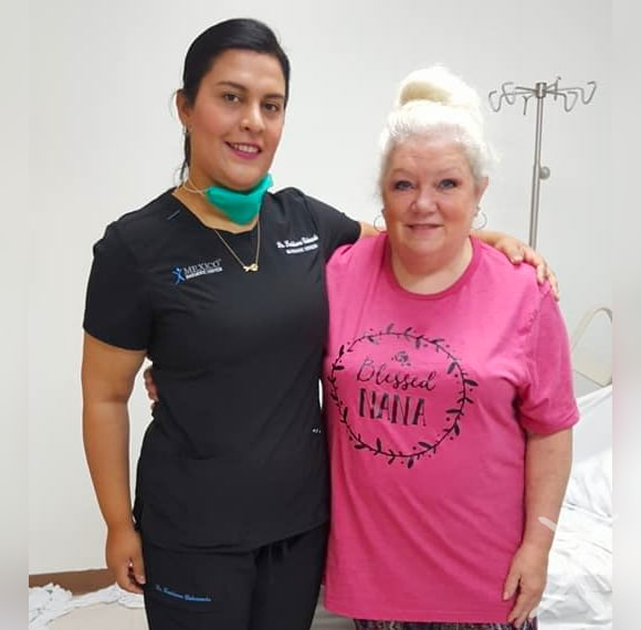 Dr. Louisiana Valenzuela - with Elder Patient Before Bariatric Surgery