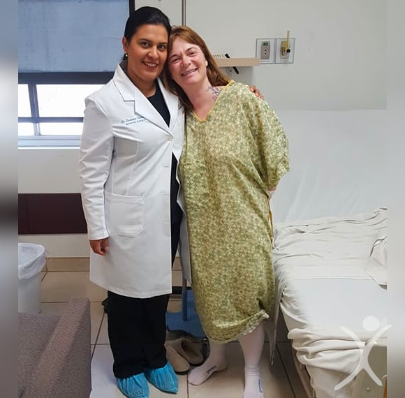 Dr. Louisiana Valenzuela with Happy Patient Before Surgery