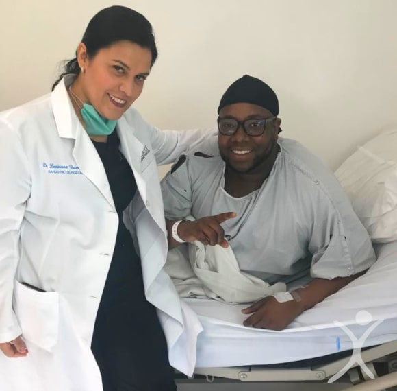 Dr. Louisiana Valenzuela with Male Patient Before Surgery