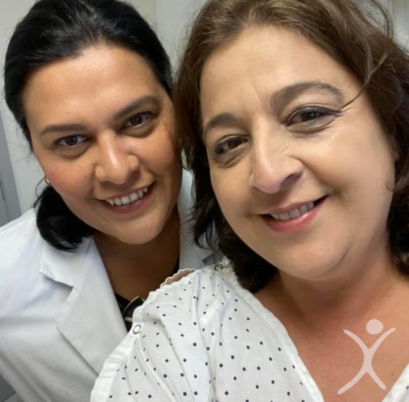 Dr. Louisiana Valenzuela with Patient Amy