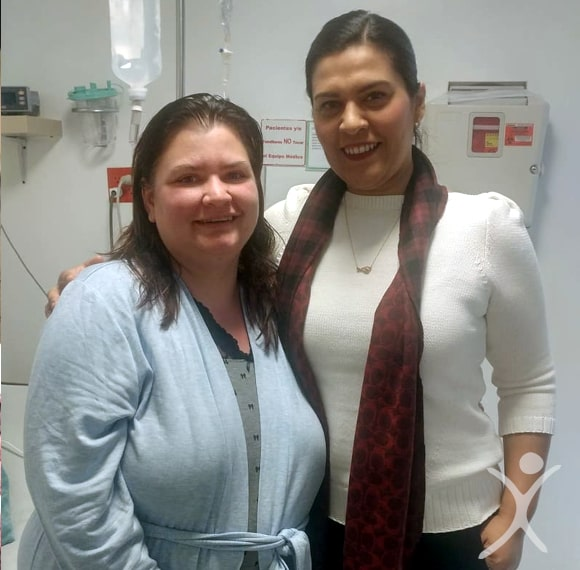 Dr. Louisiana Valenzuela with Patient Chasity